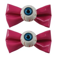 Eyeball Hair Bows - Pink :: VampireFreaks Store :: Gothic Clothing, Cyber-goth, punk, metal, alternative, rave, freak fashions