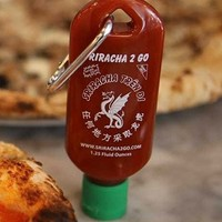 Sriracha Refillable Keychain 1.25Oz Hot Chili Sauce 2 X pack