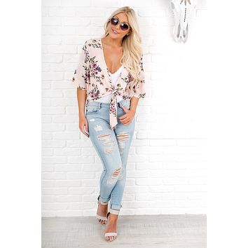 Thinking Out Loud Floral Top (Pink)