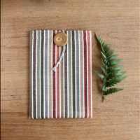 Kobo case striped Cotton gobelin Natural
