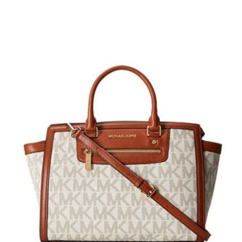 Michael Michael Kors Signature Large Selma Top Zip Satchel