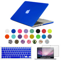 NEW Matte Case For Apple macbook Air Pro Retina 11 12 13 15 laptop bag For Macbook 13.3 inch + Keyboard  + screen protector