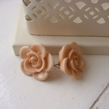 Beautiful Vintage English Rose Peach by jenniferlillydesigns