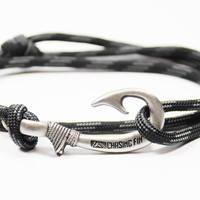 Touch of Gray Fish Hook Bracelet (New)