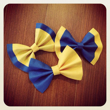 Custom Vintage Hair Bow School Spirit Bow with Alligator Clip Teens Girls Listing is for 1 Bow