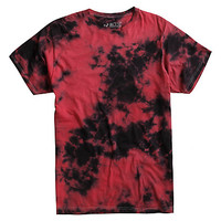 XXX RUDE Red & Black Tie Dye T-Shirt