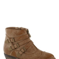 Trail of Your Own Bootie in Tan | Mod Retro Vintage Boots | ModCloth.com