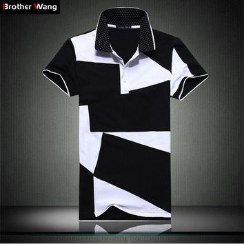 Mens Casual POLO-Style Collared T-shirt