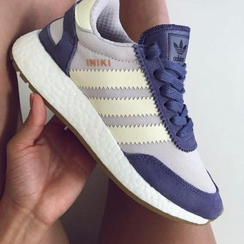adidas iniki runner boost purple beige fashion trending running sports shoes sneakers-1