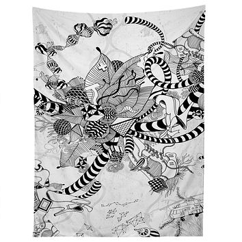 Iveta Abolina Black And White Play Tapestry