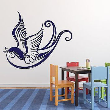 Wall Stickers Beautiful Bird Swallow Tail Wings Vinyl Decal (n311)