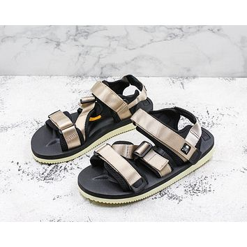 Suicoke Black Gold KISEE-V Vibram Sole Antibacterial Upper Slipper Slider Sandals