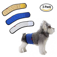 Male Dog Belly Band Wraps Washable Diapers (3 Pack) by Mkono