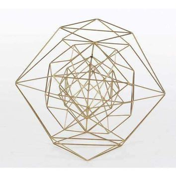 Marvellous Metal Wire Gold Sphere, Large