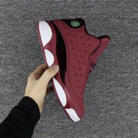 Air Jordan retro 13 wine red men basketball shoes retro 13s Sports shoes Sneakers size 41-47