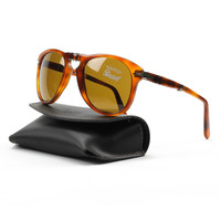 Persol PO0714 96/33 54mm Light Havana Sunglasses with Brown Lenses