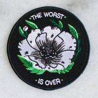 Worst is Over Iron-On Patch