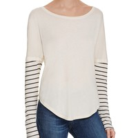 SplendidAlpine Stripe Double Layer Tee