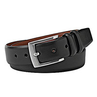 Cremieux Double Leather Keeper Belt - Black