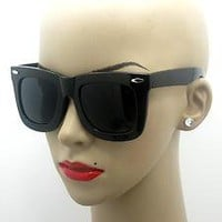 Retro Style Oversize Thick Urban Rave Party STATUS Wayfarer Sunglasses X-Large