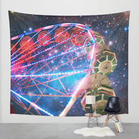 The Other Side of the Galaxy Wall Tapestry by Jenndalyn