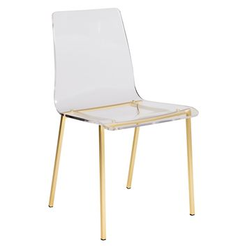 Crystal Clear Dining Chair ACRYLIC/GOLD - Set of 4