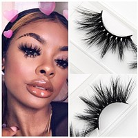 Visofree Eyelashes Mink Eyelashes Criss-cross Strands Cruelty Free High Volume Mink Lashes Soft Dramatic Eye lashes E80 Makeup