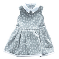 Fun&Fun - Baby Girls Sleeveless Heart Dress, Grey - 12M