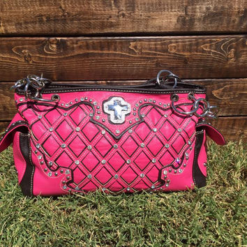 Pink Montana West Cross Purse