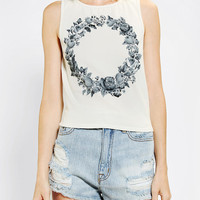 Truly Madly Deeply Flower Crown Cropped Tee