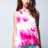 CUT OUT SMOKE BOMB BLOUSE