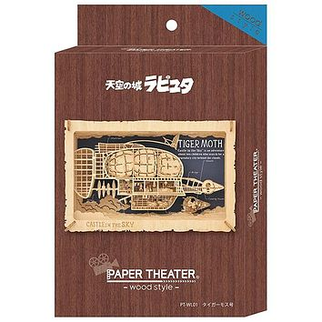 Paper Theater - Wood Style - Castle Laputa in the Sky