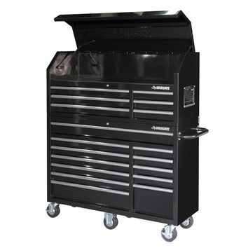 Husky 52 in. 18-Drawer Tool Chest and Cabinet Set-HOTC5218B1QES at The Home Depot