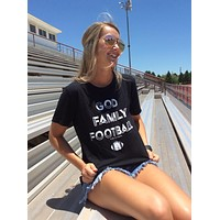 God Family Football Tee