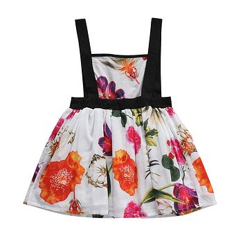 Summer Toddler Infant Baby Girl Dress Blackless Floral One-pieces Dresse Clothes