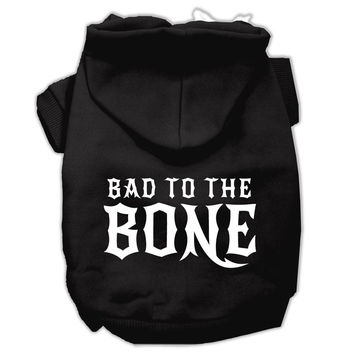 Bad to the Bone Dog Pet Hoodies Black Size XL (16)