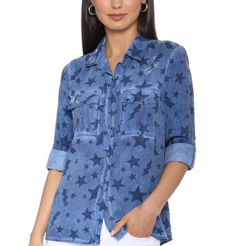 Decker Luxe Blue Cosmos Tencel Button Down