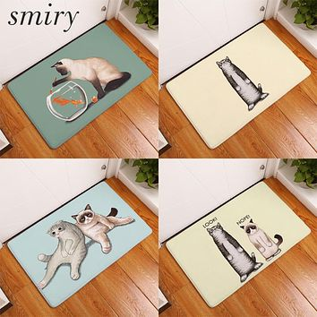 Smiry  Funny Lazy Cat Welcome Doormat Rug