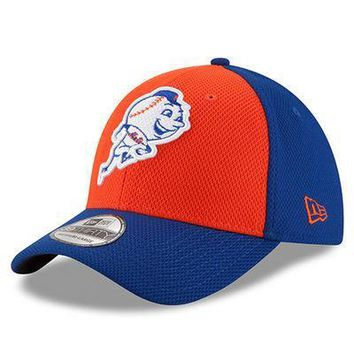 Men's New York Mets New Era Royal/Orange Diamond Era 39THIRTY Flex Hat
