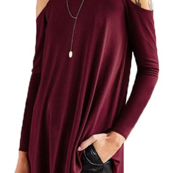 Women's  Long Sleeve Cut Out Top