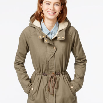 Collection B Faux-Sherpa-Lined Anorak Jacket