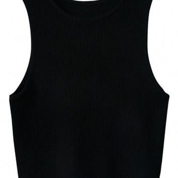 Sleeveless Bodycon Cropped Tank