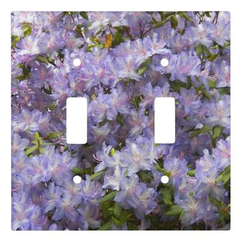 Purple Rhododendron Blossoms Floral Photo Switch Plate Covers