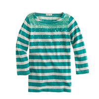 Girls' falling sequins stripe tee - knits & tees - Girl's new arrivals - J.Crew