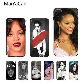 MaiYaCa Rihanna Bitch Customer Custom Photo Soft Phone Case For iPhone X 6 6S 7 7plus 8 8Plus 5 5S
