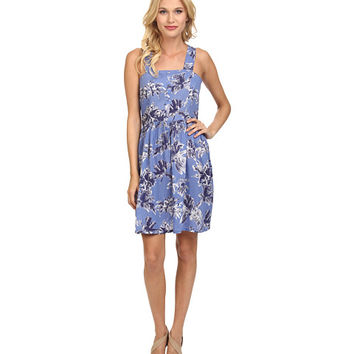 Yumi Loose Fit Beach Dress in Soft Washed Palm Tree Print