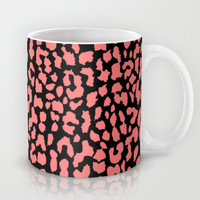 Coral Black Leopard Mug by M Studio