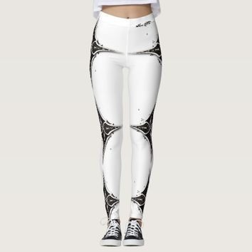 LEGGINGS BLACK ON WHITE DESIGN 111 HAVIC ACD