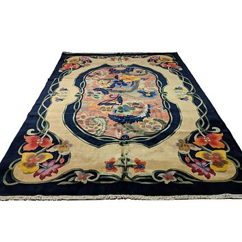9x12 Upscale Quality Chinese Deco Soft 100% Wool Area Rug 2942