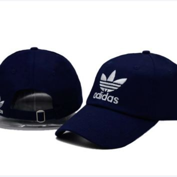 Navy Blue Adidas Logo Cotton Baseball Golf Sports Cap Hats